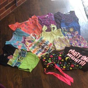 Justice 10-12 pajamas lot